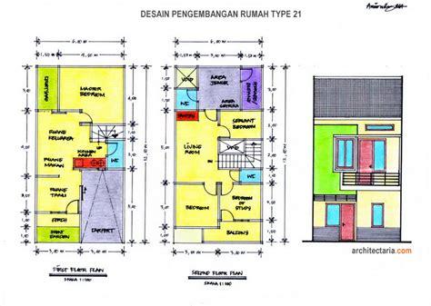 desain renovasi rumah type 21 pt architectaria media cipta