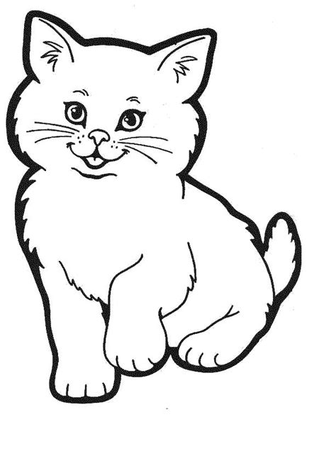 Cat colouring pictures cat colouring