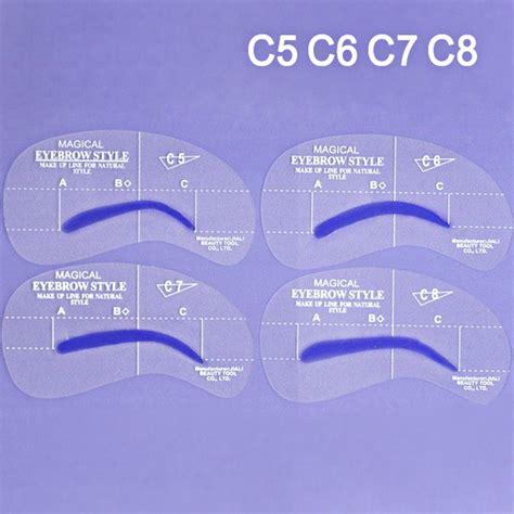 eyeshadow eyeliner grooming shaping assistant template stencil card 4 styles grooming stencil kit shaping diy eyebrow