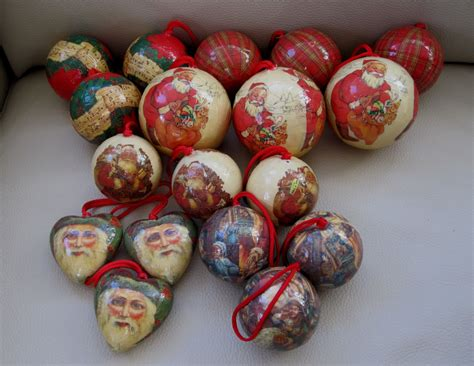How To Make Paper Mache Ornaments - 18 traditional decoupage papier mache ornaments