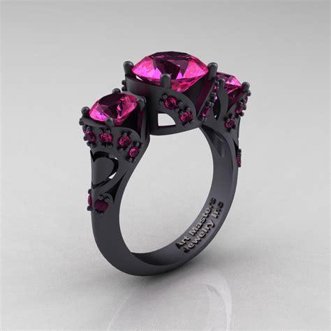 scandinavian 14k matte black gold 2 0 ct pink sapphire