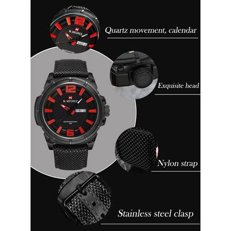 Navi Jam Tangan Analog Digital Pria Cowok Murah Elegan navi jam tangan analog pria 9066 black orange