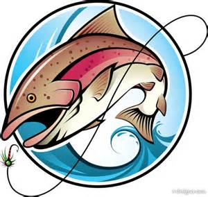 4 designer fishing cartoon image 02 vector material