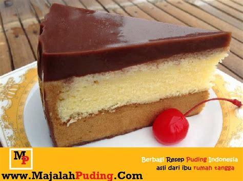 membuat puding cake bermotif resep puding cake coklat lapis vanilla resep puding
