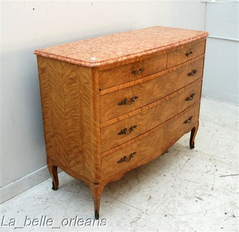 marble top walnut dresser commode must see