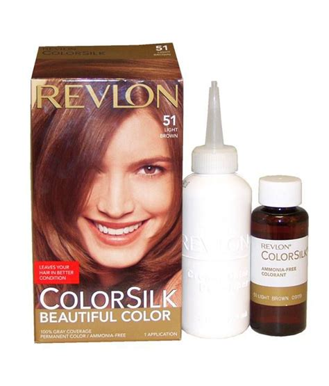 ammonia free hair color revlon colorsilk ammonia free hair color 51 light brown