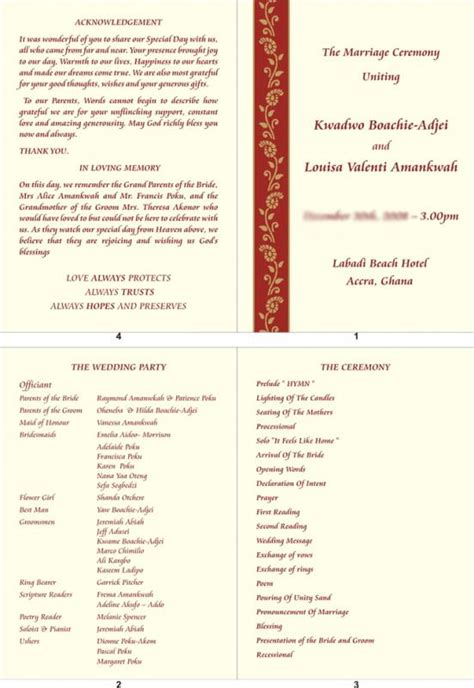Wedding Reception Program Template Template Business Reception Program Template