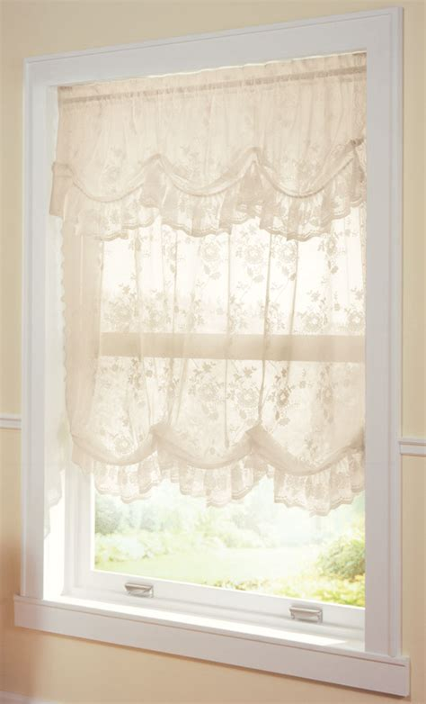 balloon valance curtains collections etc allison balloon lace curtain and valance