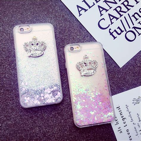 Open Po Liquid Glitter Sands For Iphone 6s Plus 7 Plus gem imperial crown dynamic liquid glitter sand silicone cover for iphone 5s se 5 6 6s