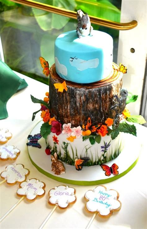 nature themed cake cakecentral