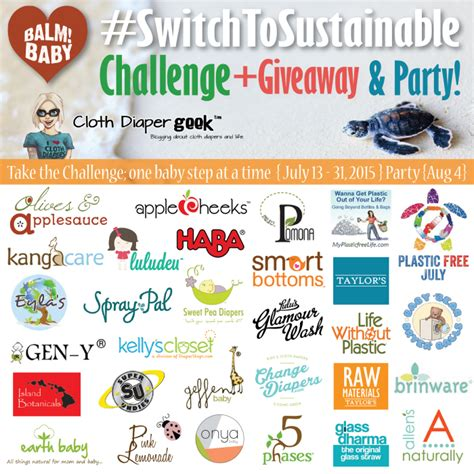 Sustainable Giveaways - switch to sustainable challenge giveaway party