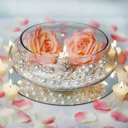 balsacircle 10 quot wide floating candle glass bowl