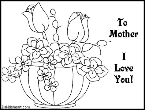mothers day coloring pages for toddlers card to color for mom