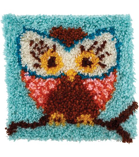 latch rug kits wonderart latch hook kit 12 quot x12 quot hoot hoot jo
