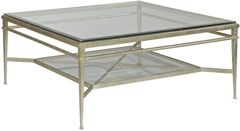 Square Glass Top Coffee Table New Square Cocktail Coffee Table Genuine Silver Leaf Beveled Glass Top Shelf Ebay