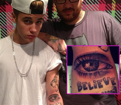 justin bieber eye tattoo justin bieber s collection meaning 23 and