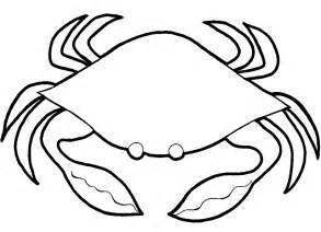crab outline 17 marine animals quot crab quot coloring sheet
