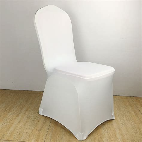Inexpensive Covers by Colour White Cheap Chair Cover Spandex Lycra Elastic Chair