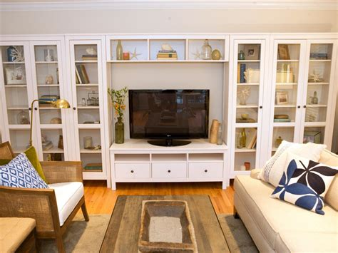 build a living room living room built in shelves hgtv