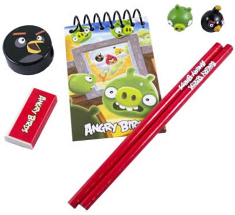 Angry Birds 5in1 Stationery Set angry birds 7 in 1 stationery set