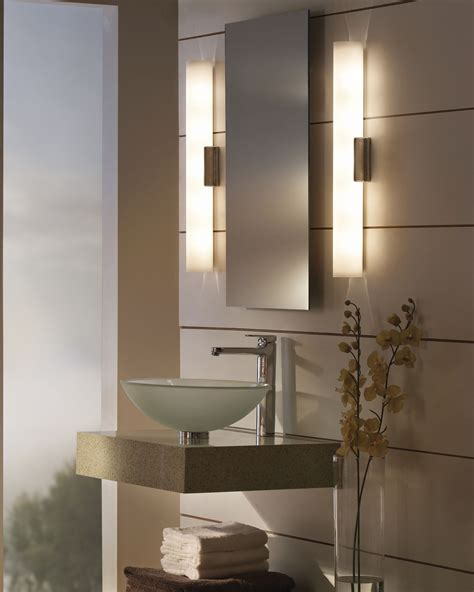 Modern Cylindrical Single Bathroom Wall Lighting As Bathroom Vanity Lights Modern