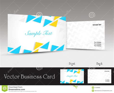 eps business card template set of modern design vector business card template stock