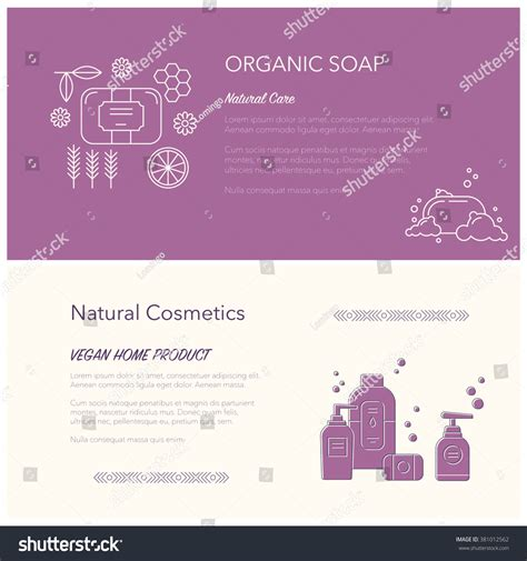 Handmade Cosmetics Business - flyer banner templates soap cosmetics elements stock