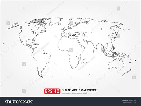 flat world map vector flat world map outline stock vector 224902186