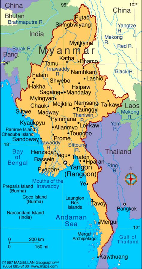 where is myanmar on the map myanmar map political regional maps of asia regional