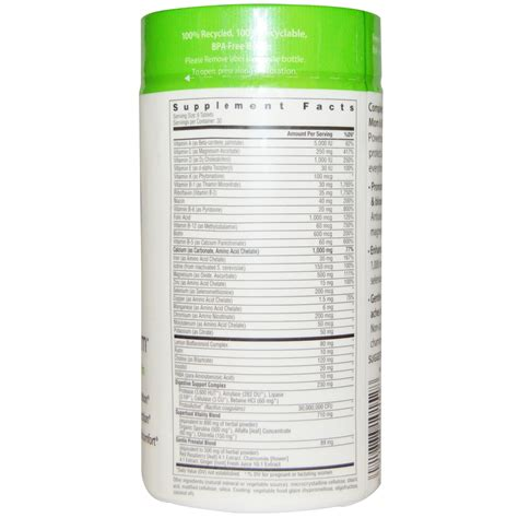 rainbow light complete nutritional system 180 tablets rainbow light complete prenatal system food based