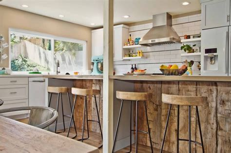 Kitchen Islands Houzz rustic modern