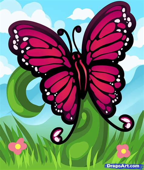 spring pictures to draw how to draw a spring butterfly step by step bugs
