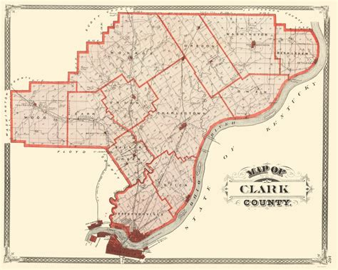 Clark County Property Records Wa County Maps Clark County Indiana In By Baskin