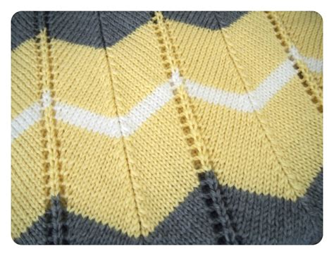Chevron Baby Blanket Knit Pattern by She Is Crafting My Doom Striped Chevron Baby Blanket