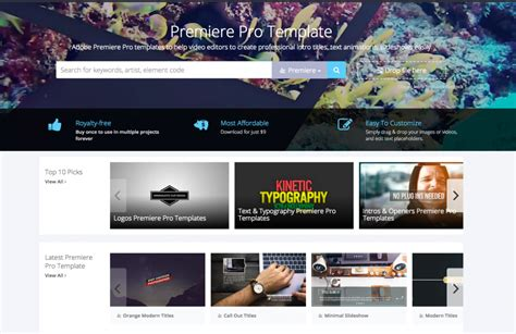 adobe premiere pro templates launched  motionelements