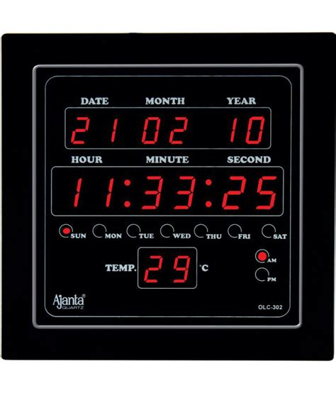 buy digital clock ajanta square digital wall clock sachretails 302 0 buy