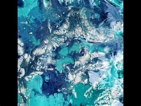 How To Create Marble Texture Using Acrylic Paint And Water