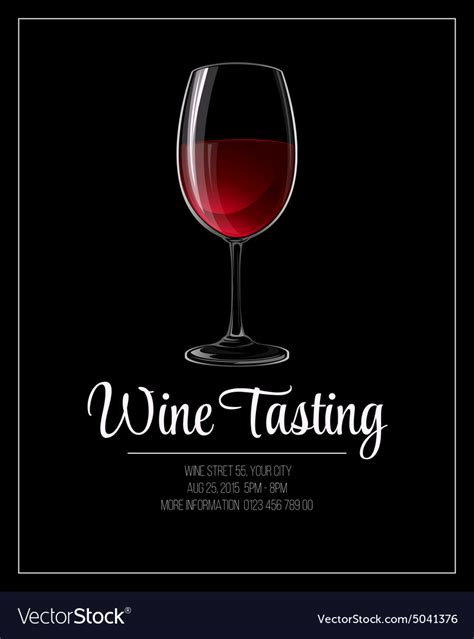 wine flyer template wine tasting flyer template royalty free vector image