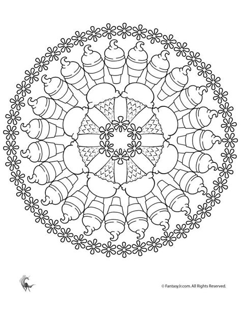 summer mandala coloring pages fantasy jr ice cream mandala coloring page mandala