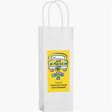 Paper Bag Fullcolor white paper wine shopping bags imprinted 4allpromos