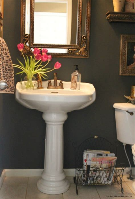 powder room pedestal sink how to a skirted pedestal sink easy sewing tutorial