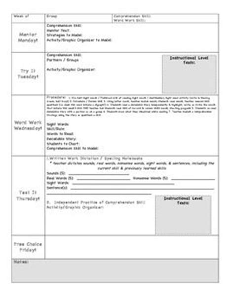 lesson plan template special education special education weekly lesson plan template