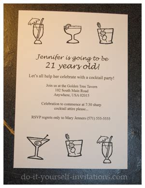 invitation quotes for 21st birthday make diy 21st birthday invitations