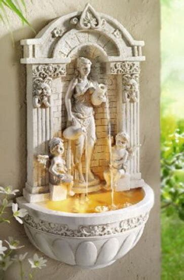 wall hanging wall european angel water fountain