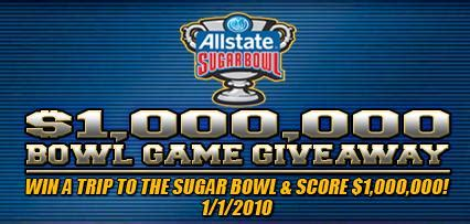 Win Free College Tuition Giveaway - 1 000 000 bowl game giveaway