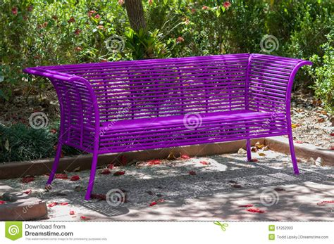 purple bench purple park bench stock image image of outdoor empty 51252303