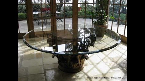 How To Get Scratches Out Of Glass Table by Scratched Glass Table Glass Resurfaced Polished