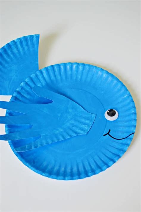 Paper Plate Fish Craft - print paper plate fish