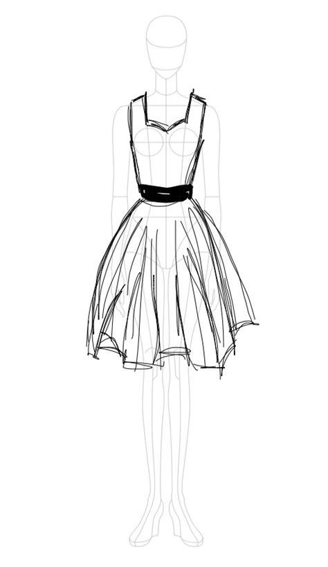 dress sketch miriama gossow