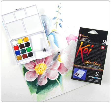 Koi Water Color Pocket Set 48 koi watercolor www pixshark images galleries with